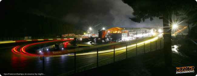 Spa-Francorchamps, la source, by night whit DKR Engineering